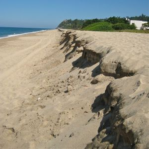 """Hurricane Rick leaves behind a huge """"shelf"""" on our beach."""
