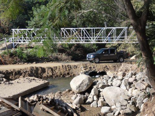 New Pedestrian Bridge at San Pancho
