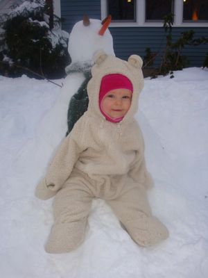 The newest Hahn family member enjoys her first-ever winter in New England!