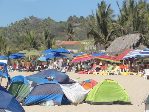 The beach in San Pancho for Semena Santa 2013