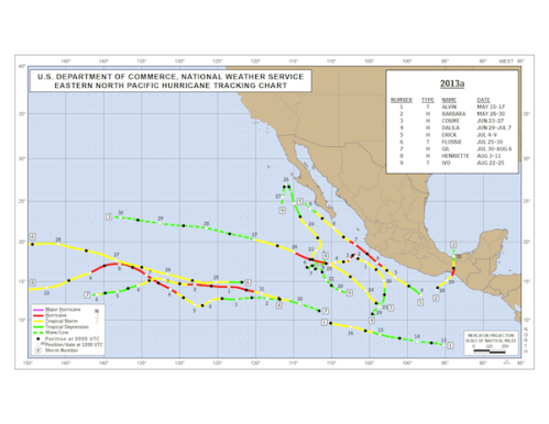 Storm Tracks 2013 Eastern Pacific 1 - 9